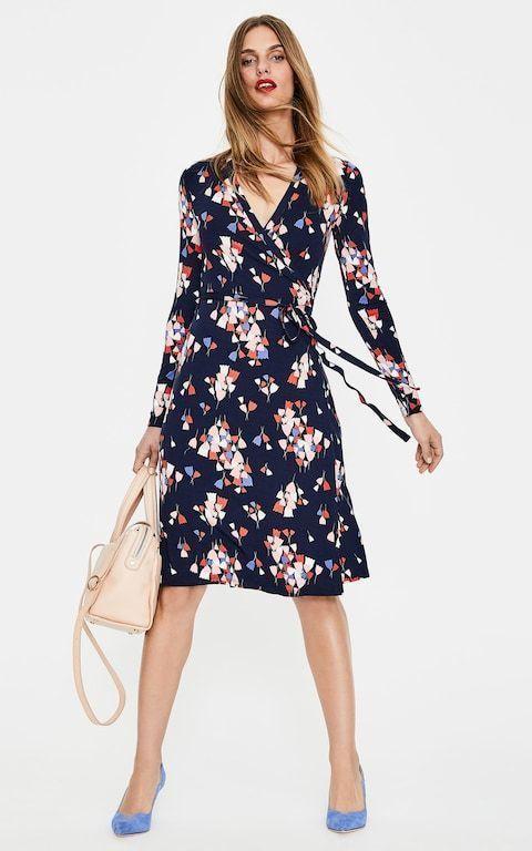 New Boden Sylvie Dress W0161 Uk 8r Sample Blood Orange Brush Stroke