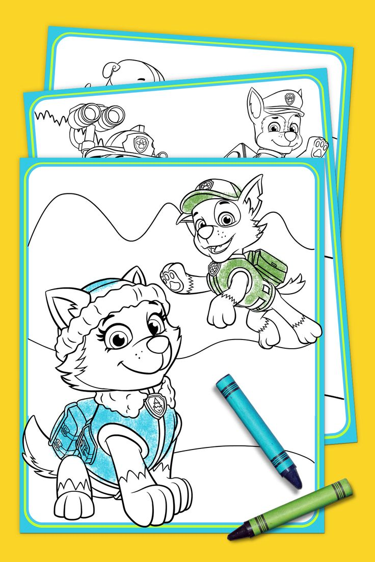 PAW Patrol – Everest Coloring Pack FREE PRINTABLES