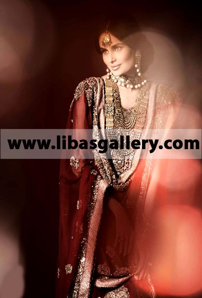 HSY chic and sweet Embroidered Wedding Dupatta at Bridal ...