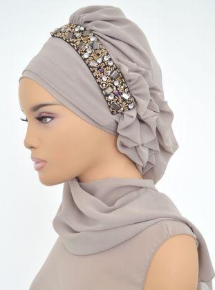 Ready-to-wear Turban - Mink - Ayşe Türban Tasarım