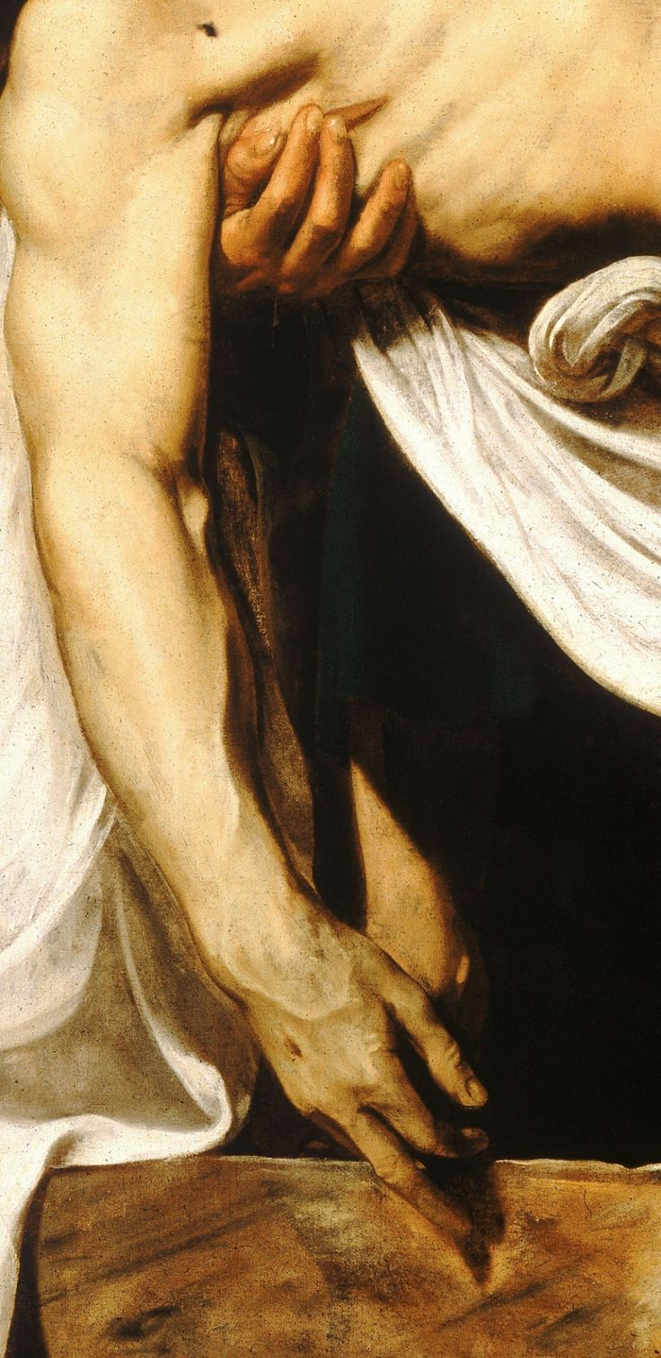 Caravaggio, The Entombment of Christ, detail (c. 1603)