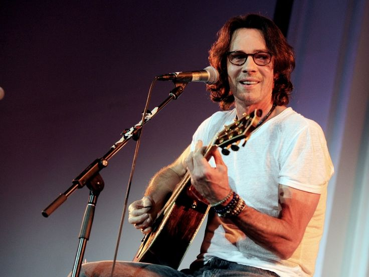 Rick Springfield plays it cool during a performance at Autism Speaks' Blue Jean Ball on Oct. 24 in Los Angeles: A Mini-Saia Jeans, Speaking Blue, Rick A Lici, The Angel, Blue Jeans, Grammycom Rick, Jeans Ball, Rick Springfield, Autism Speaking