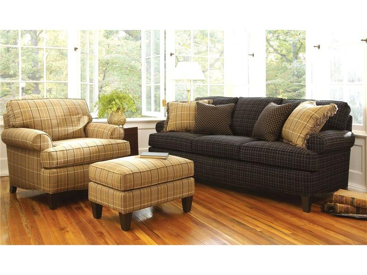 Smith Brothers Living Room Three Cushion Sofa 357 10   Woodleyu0027s Furniture    Colorado Springs