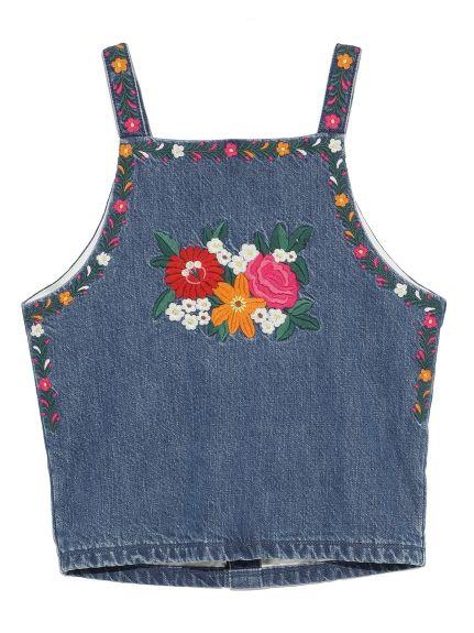 メキシコ刺繍デニムトップス(キャミソール)|Lily Brown(リリーブラウン)|ファッション通販 - ファッションウォーカー