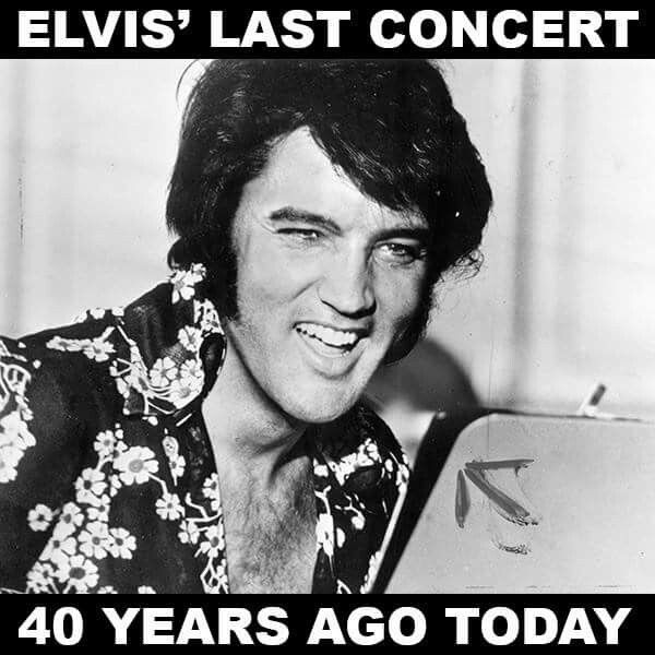 It was a sold-out performance at the Market Square Arena in Indianapolis on June 26, 1977, 40 years ago today. And it turned out to be Elvis Presley's last concert. The King would pass away  less than two months later. What are your favorite Elvis memories?