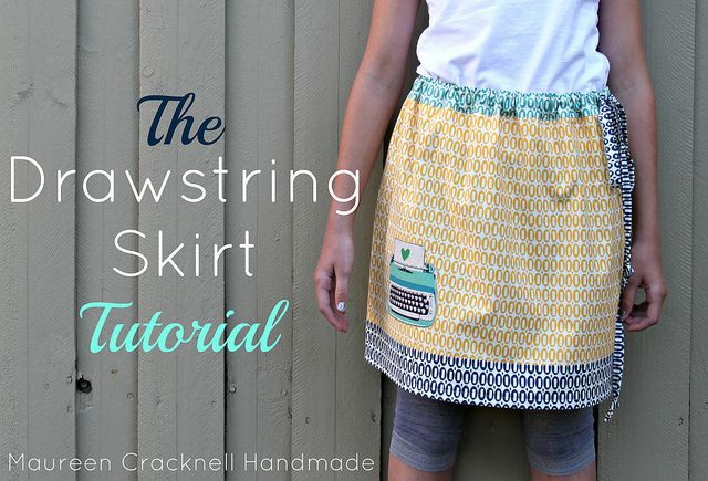 The Drawstring Skirt Tutorial by maureencracknellSkirts Tutorials, Crafts Ideas, Drawstring Skirts, Beautiful Skirts, Skirts Pattern, Tutorials How, Sewing Skirts Diy Inspiration, Avent De, Skirts Beautiful