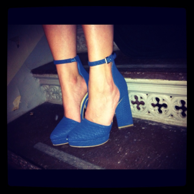 New shoes at last nights Bon Magazine party!