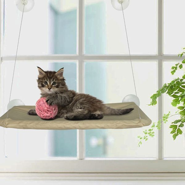 Sunny Seat Window-Mounted Cat Lounger from eFizzle