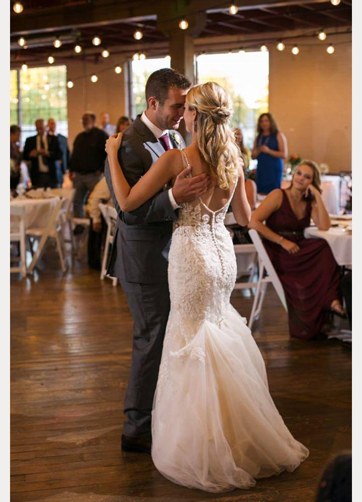 Bride Wears Sophia Tolli Margot For Her Early Autumn Wedding In