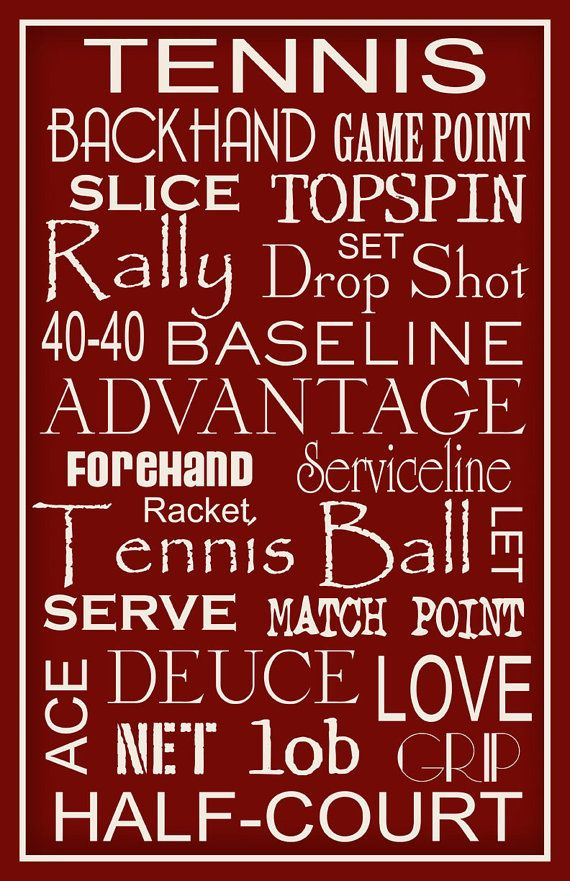 Tennis Typography