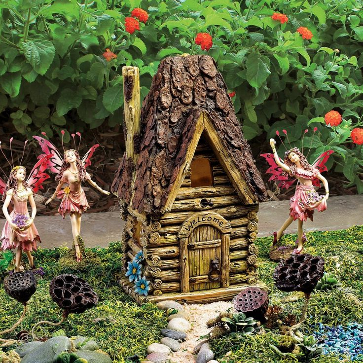 Magical Fairy Garden Designs: Toscano Woodland Fairy Garden House: Amazon.co.uk: Garden