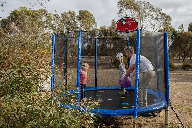 Spend quality time with your children whilst keeping them healthy on a trampoline- the perfect accessory for fitness and fun #trampoline #oztrampolines #play #outdoorplay #kids #parenting