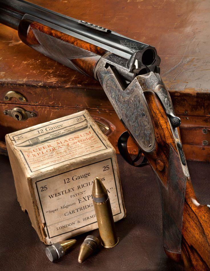 Westley Richards break action rifle.