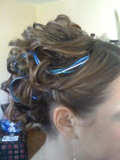 Updo with hair ribbons
