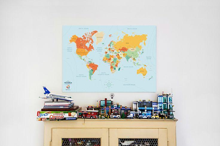 Political Map  #InteriorDesign #travel #WorldOnCanvas #Maps