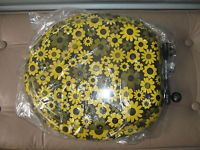 60S FLOWERED TOILET SEAT ON EBAY. STRIPES AND OTHER FLORALS AVAILABLE. #MIDCENTURY #MADMEN
