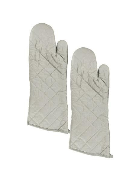 Large Silver Oven Mitts Set (Available in a pack of 12)