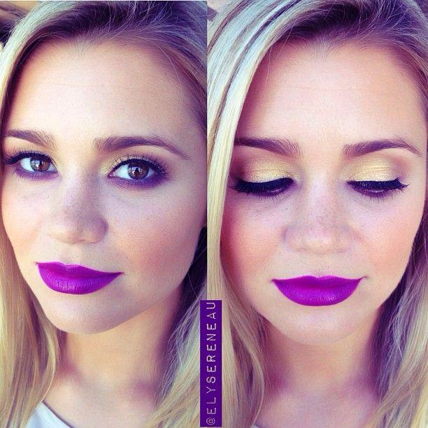gorgeous eye look to wear with fabulous purple lips. : )