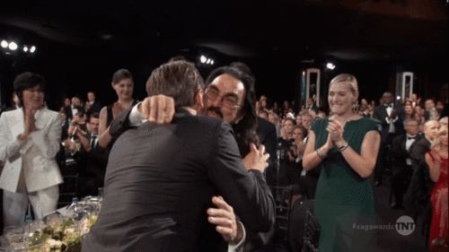 Leonardo DiCaprio and Kate Winslet Were So Cute Together at the 2016 SAG Awards It Was Actually Ridiculous   E! Online Mobile