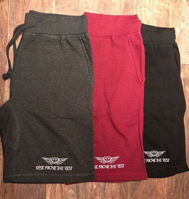 Rise Above The Rest Men's Fleece Shorts Size LARGE, various colors available by RiseAboveTheRest on Etsy https://www.etsy.com/listing/501249929/rise-above-the-rest-mens-fleece-shorts