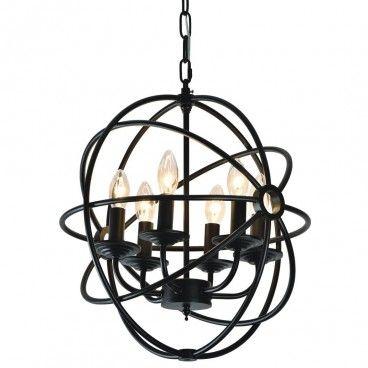 Lampa wisząca Cage czarna metalowa