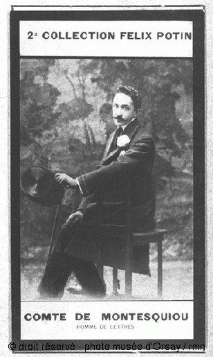 Anonyme  Comte Robert de Montesquiou, homme de lettres  vers 1900  épreuve argentique contrecollée sur carton  H. 0.074 ; L. 0.042  musée d'Orsay, Paris, France