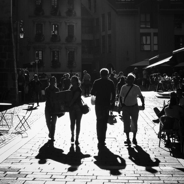 Contrejour dans les rues d'Annecy