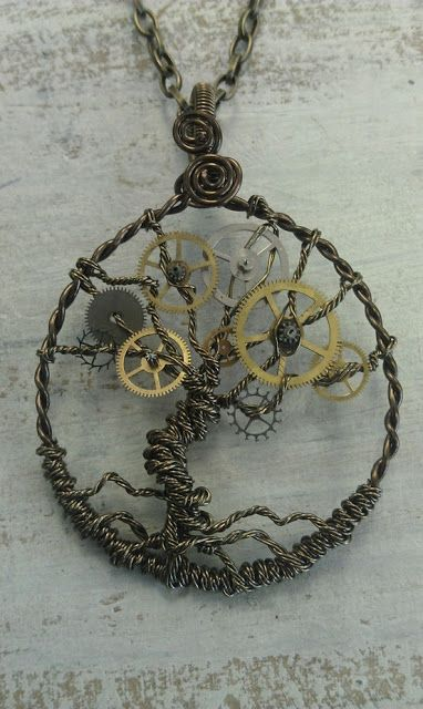 Recycle Reuse Renew Projects: DIY Steampunk Tree of Life Pendant