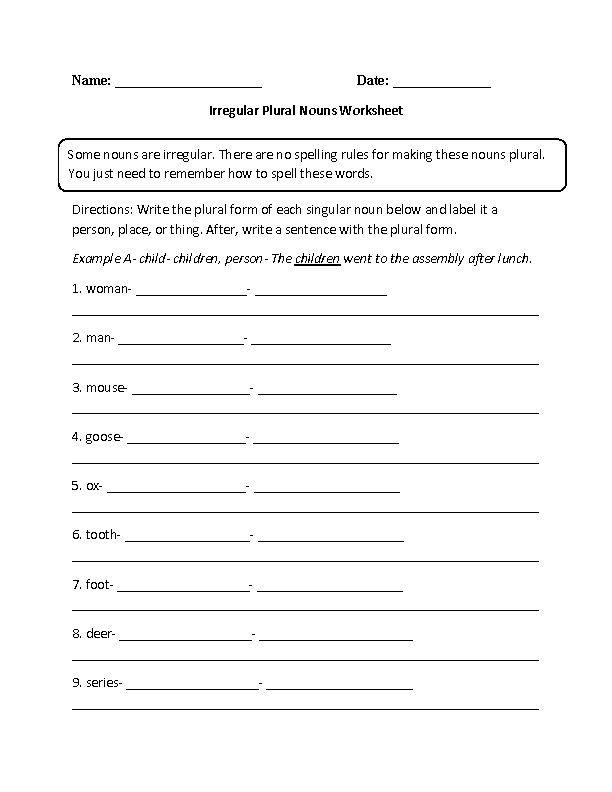 best 25 irregular plural nouns worksheet ideas on pinterest irregular plural nouns irregular. Black Bedroom Furniture Sets. Home Design Ideas