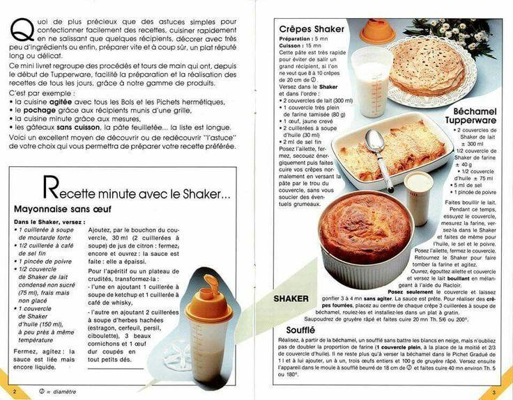 TUPPERWARE recettes SHAKER