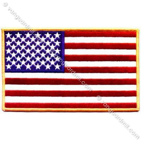 gold american flag
