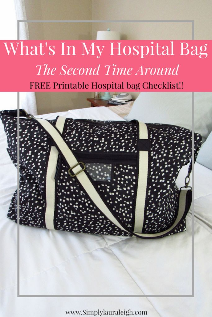Whats In My Hospital Bag - The Second Time Around  Getting ready to pack your Hospital Bag? Check out what I'm taking with me the second time around. Don't forget to download my FREE Hospital Bag Checklist!!!!