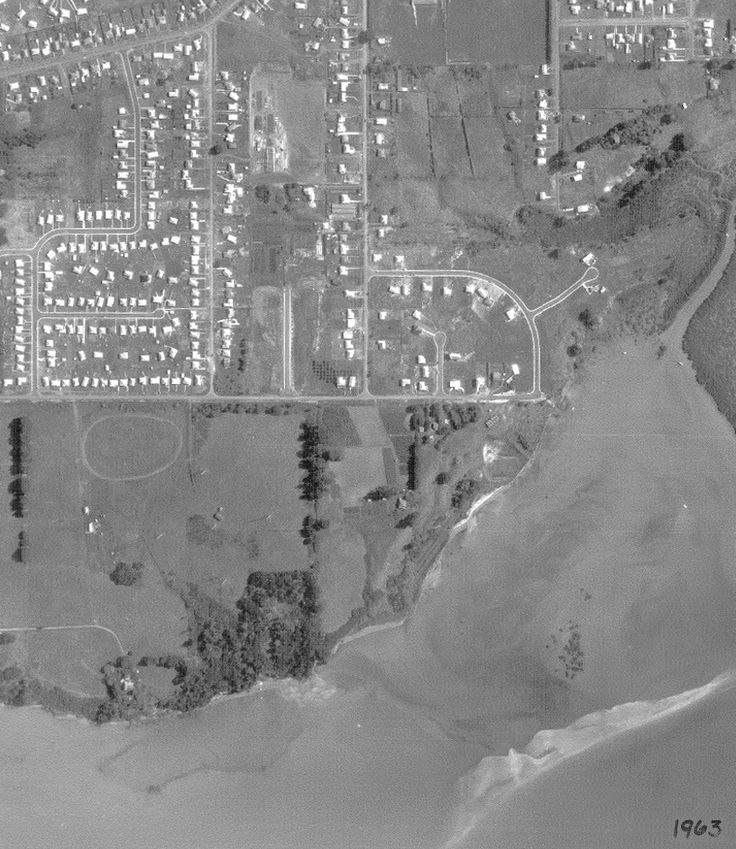 1963. Subdivision at Beach Rd. Gill Ave is named after Jack Gill who subdivided the land. He fought in Gallipoli, was wounded and returned from the war, eventually becoming the first councillor for Te Atatu on Waitakere City Council, during the 1960's. Mayburn Road was named after his wife May, whose maiden name was Burn. Kelvin Crescent was named after Jack's son Kelvin (also known as Jack) co-owner of the construction company Bonnar Gill…