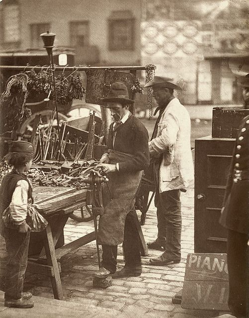 The Street Locksmith    From 'Street Life in London', 1877, by John Thomson and Adolphe Smith: London EastEnd Victorian