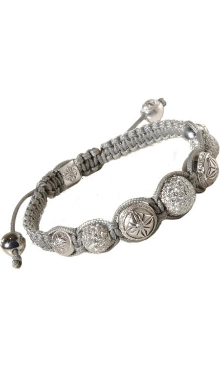 Shamballa White Diamond & White Gold Bead Bracelet at London Jewelers!
