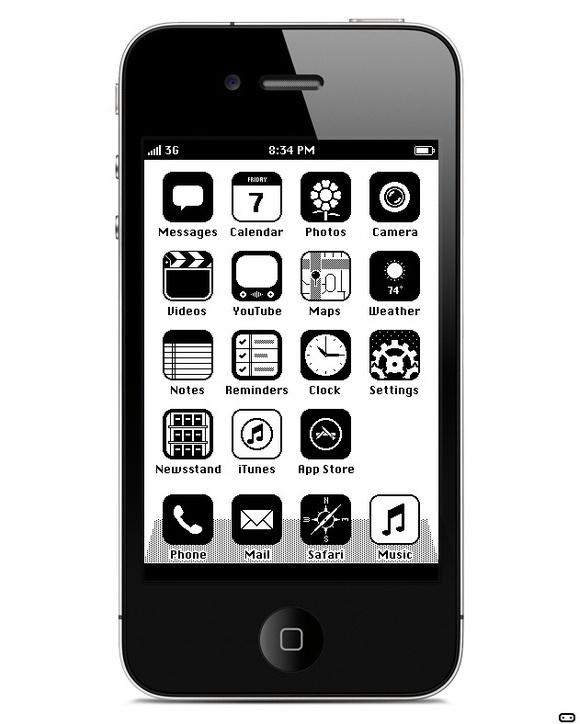 Картинки черно белый мобильный
