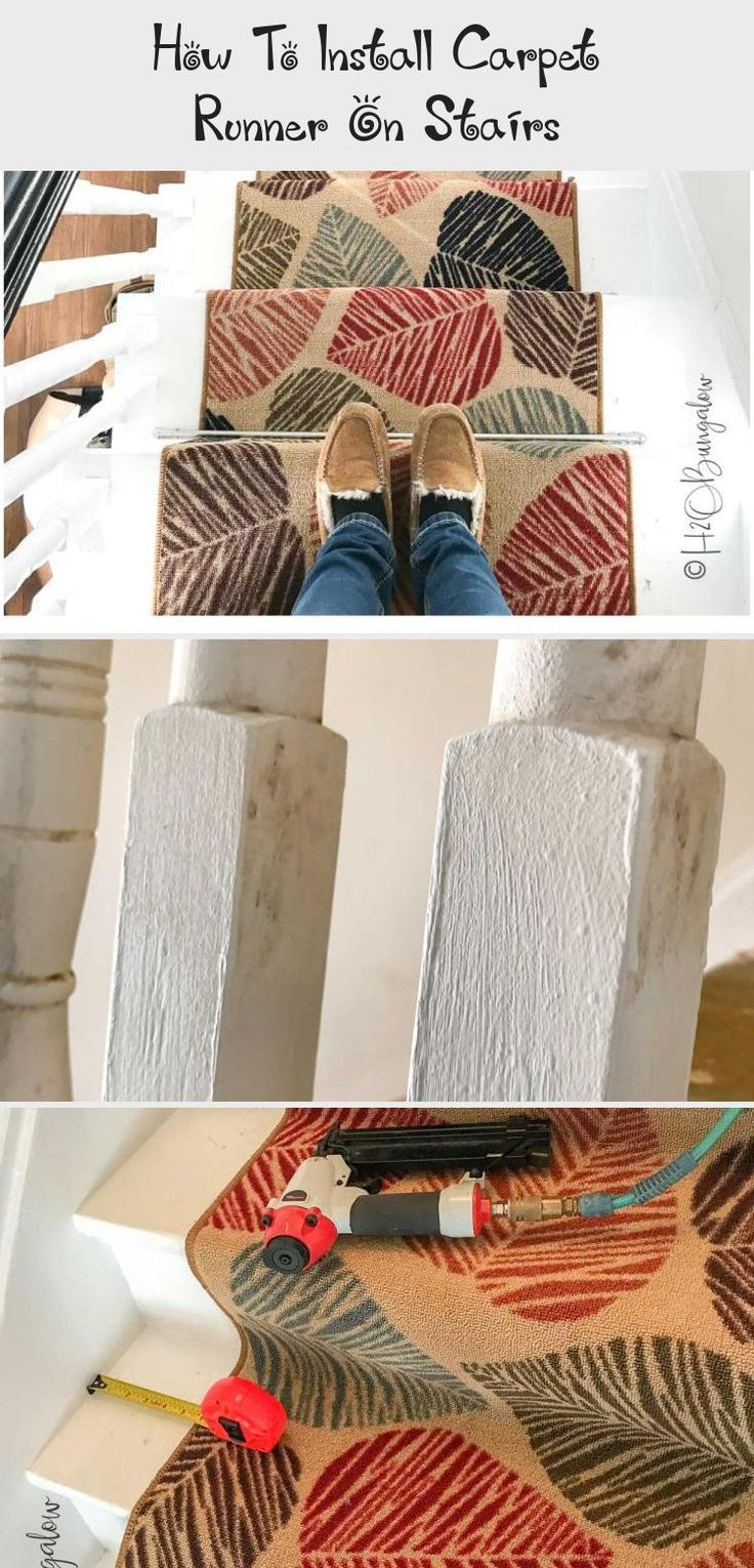 How To Install Carpet Runner On Stairs (With images