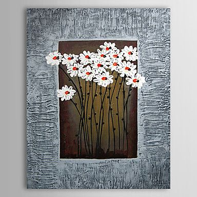 Hand Painted Oil Painting Floral With Stretched Frame 1307-FL0156 – USD $ 69.99
