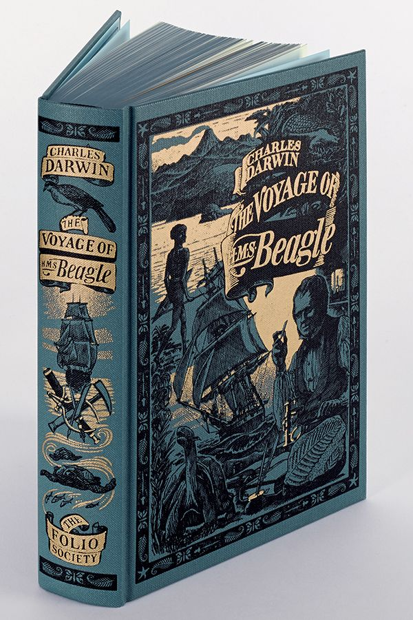 The Voyage Of Hms Beagle Hms Beagle Book Art Book Design