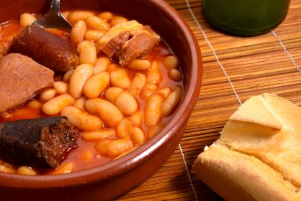 Warm and filling...Fabada for lunch
