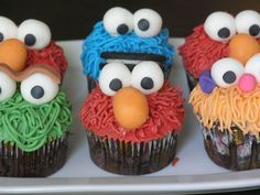 Sesame Street Cupcakes   Flickr - Photo Sharing!