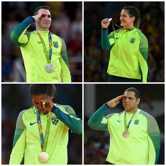 Dos 11 atletas brasileiros que conquistaram medalhas nas Olimpíadas Rio 2016, nove são militares, e inclusive alguns prestam continência quando sobem ao pódio, gerando certa polêmica no público. Mais 145 atletas da delegação brasileira fazem parte de alguma força militar, ou seja, 30% da delegação completa