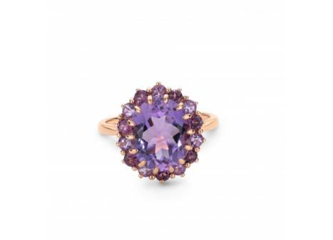 10K Rose Gold #Amethyst and #Rhotolite #Garnet #Ring $399.99