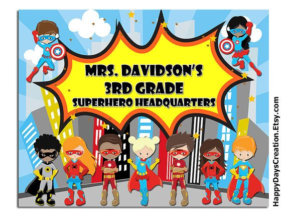 Superhero Classroom Decor Classroom Poster by HappyDaysCreation