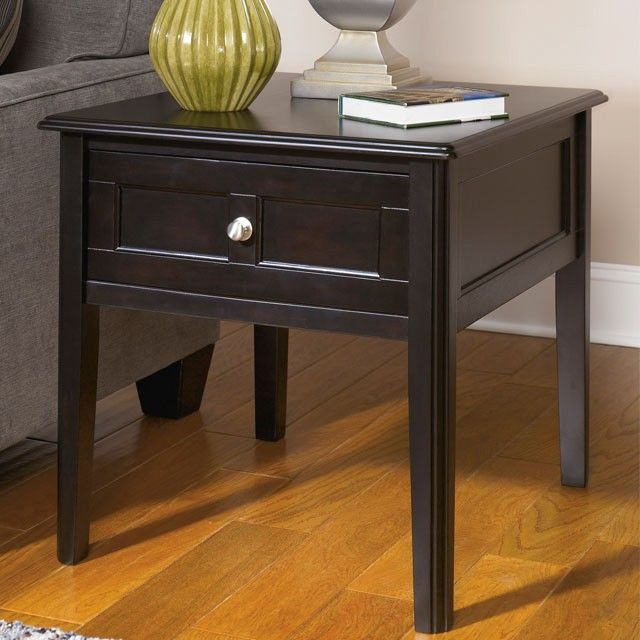 Henning Rectangular End Table - Almost Black - (Set of 1) - T479-3 by Ashley Furniture Signature Design
