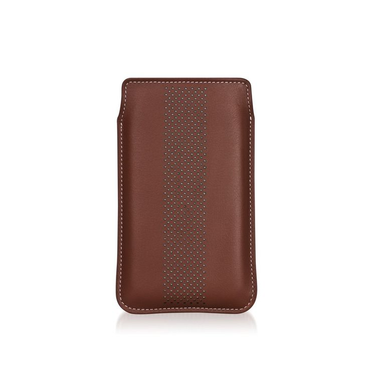 Infinity Dots Brown/White - Pouch for Samsung GALAXY S models