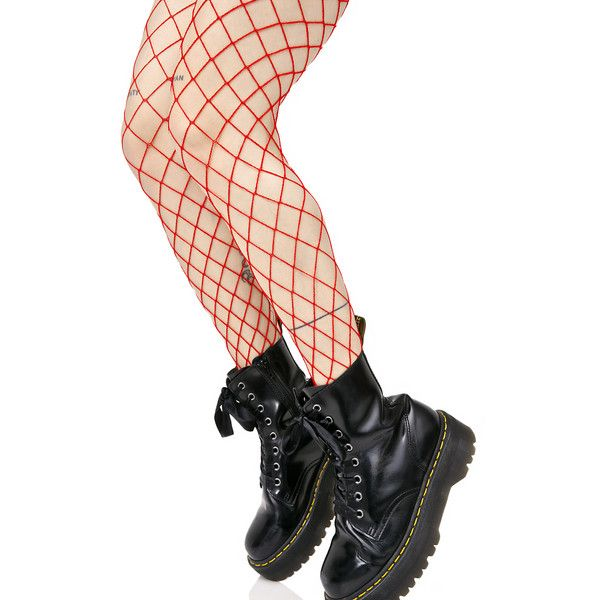 Red Fishnet Stockings (€9,43) ❤ liked on Polyvore featuring intimates, hosiery, tights, red pantyhose, shiny pantyhose, red stockings, doll stockings and red fishnet tights