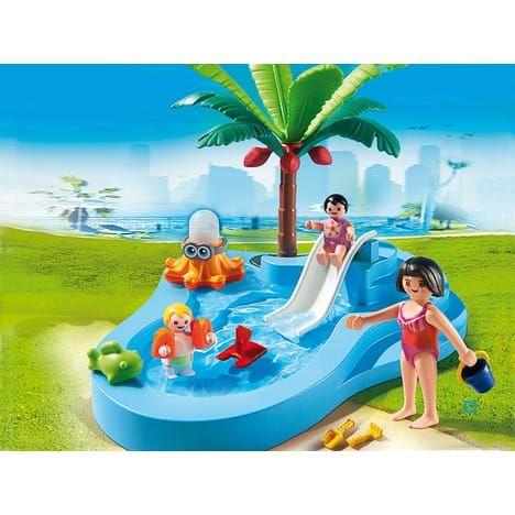 PLAYMOBIL 6673 Bassin pour bébés et mini toboggan