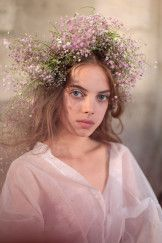 Model backstage Rodarte show, Backstage, Fall Winter 2017, Haute Couture Fashion Week, Paris, France – 02 Jul 2017