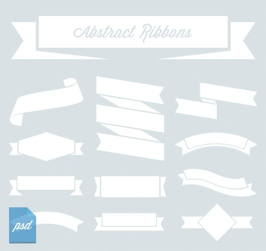12 abstract white on blue ribbons designed in illustrator & Photoshop. Free to download & use for your personal & commercial projects.